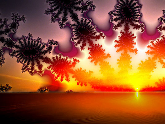 1990s wallpapers - Fractal sunset