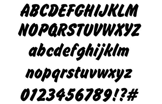 Free brush fonts: Brush Hand New