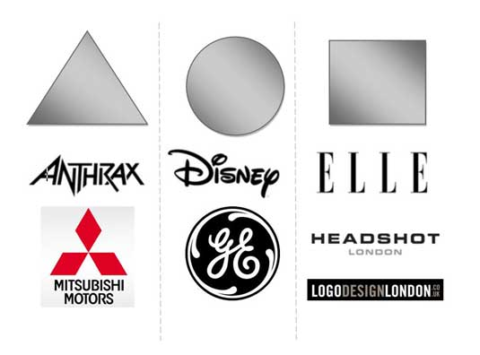 Logo shapes: three examples