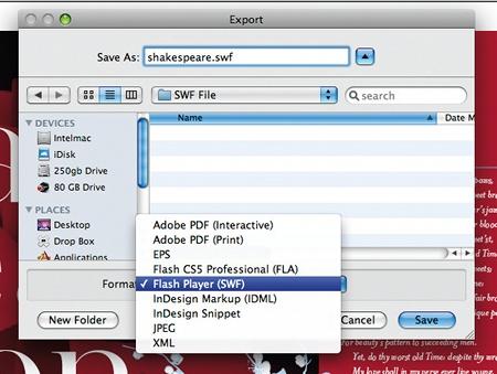 Export to flash SWF