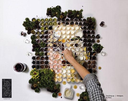 vegetable lifelike portrait