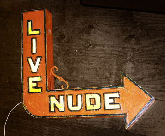 sign: live nude
