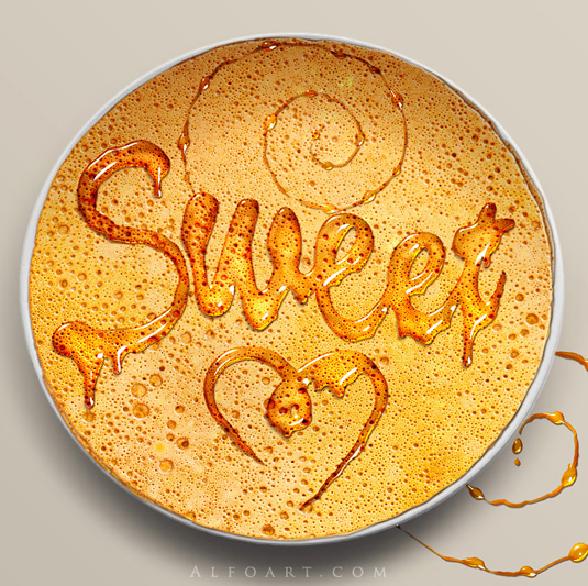 Typography tutorial: Melting honey