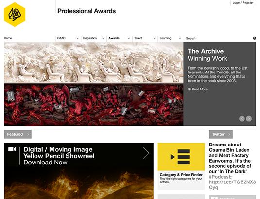 Win a design award: D&AD winners