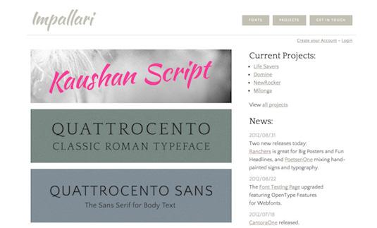 Download fonts: Impallari
