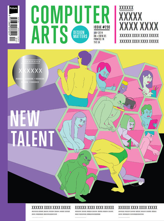 Cover design for CA's New Talent issue by Bridget E. Meyne