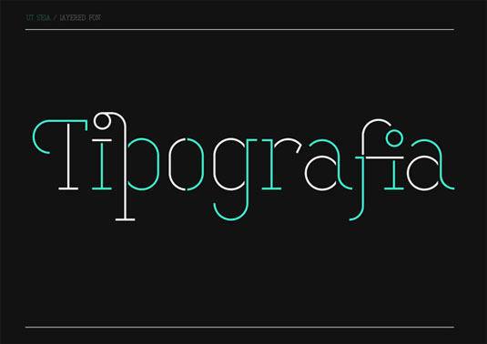 free stencil fonts: Stela UT