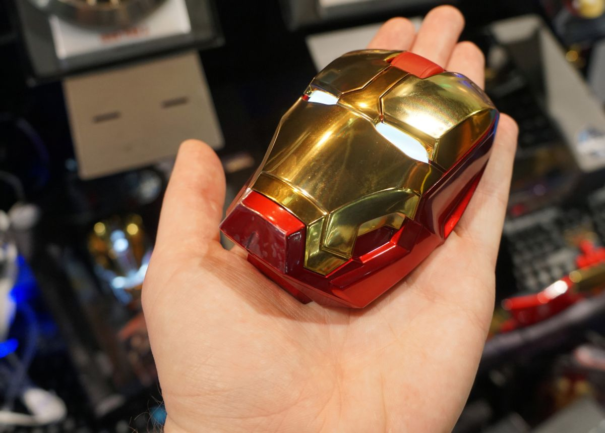 Heres a mouse that looks like Iron Mans shrunken head