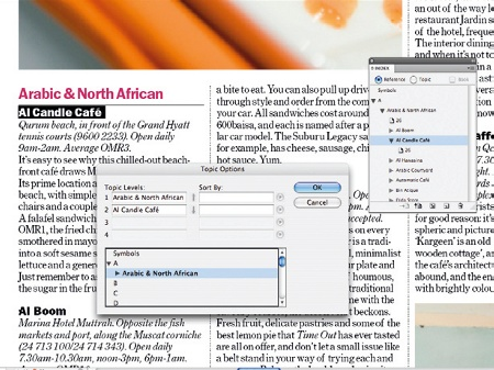 Create an index in InDesign: step 4