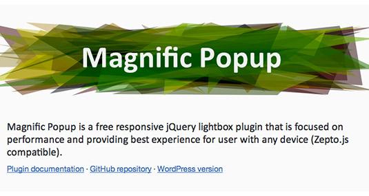 jQuery plugin Magnific Popup