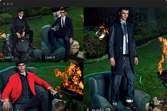 Dsquared2 launches responsive modular site