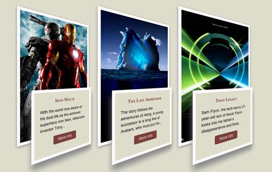 CSS animations: Movie posters