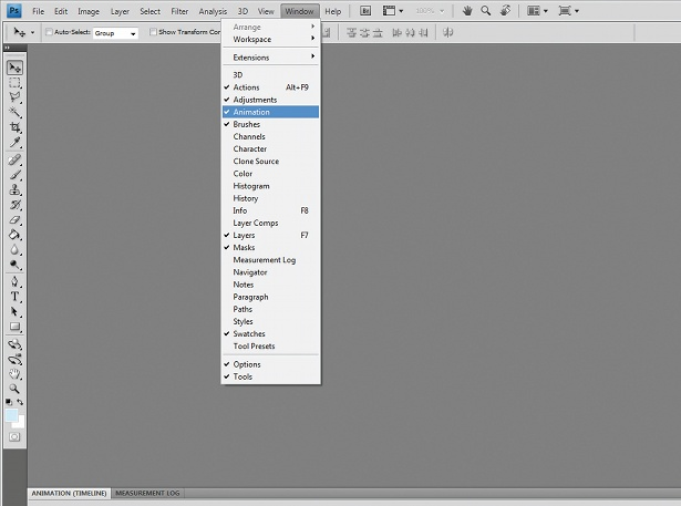 animation in Photoshop: step 2