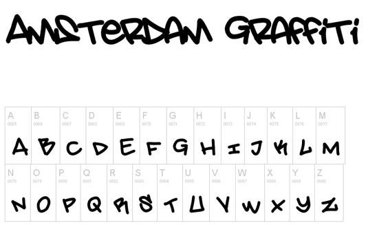 Graffiti font Amsterdam Graffiti