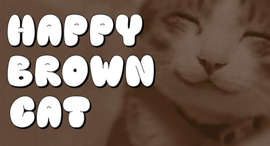 Free graffiti font: Happy Brown Cat