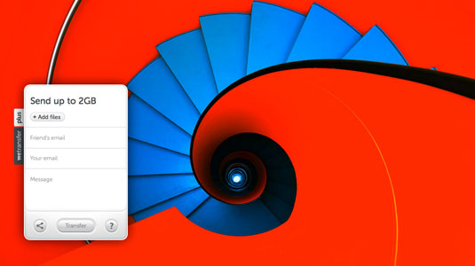send large files: WeTransfer