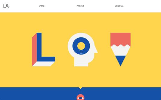 Examples of flat design: Lorenzo Verzini