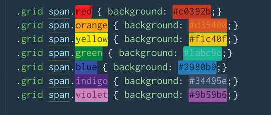 The ColorHighlighter package will underline or highlight hex codes, RGBA values and preprocessor variables in your CSS