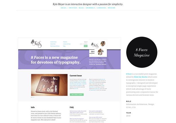 Master web typography: Kyle Meyer's portfolio