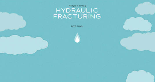 Example of parallax scrolling websites: Fracking