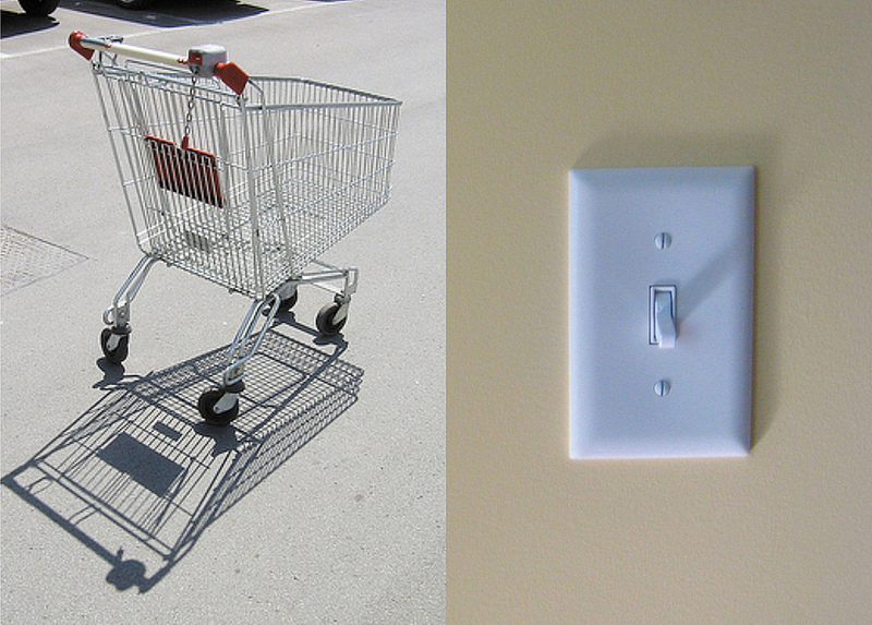 Similar to a shopping cart or a light switch, a great mobile design provides users with interaction cues