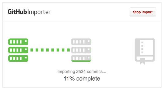 Web design tools: GitHub importer
