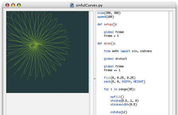 NodeBox is a quick, easy way for Python-savvy developers to create 2D visualisations