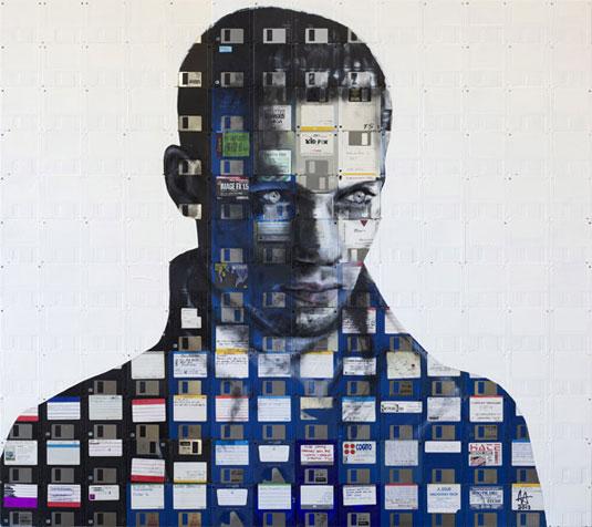 floppy disk paintings