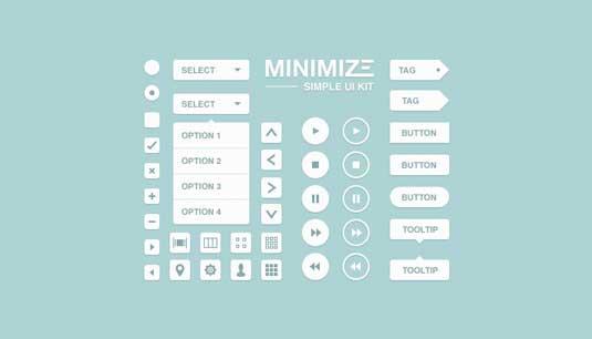 Free UI kit: Minimize