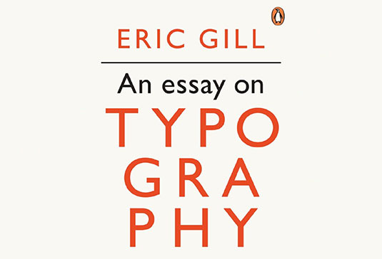 An Essay on Typography cover