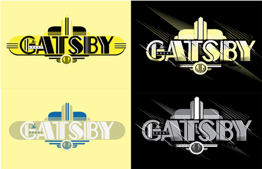 Great Gatsby typography