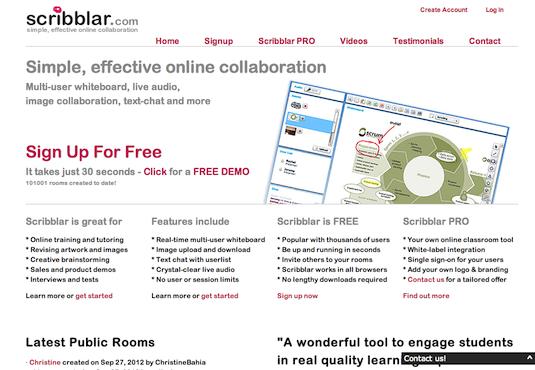 Online collaboration tools: Scribblar