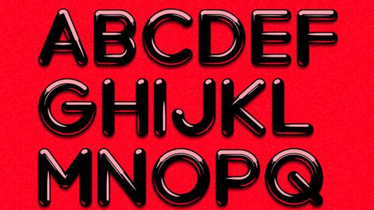 Free font: Chrome light