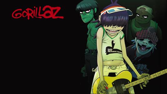 Band logo designs - Gorillaz