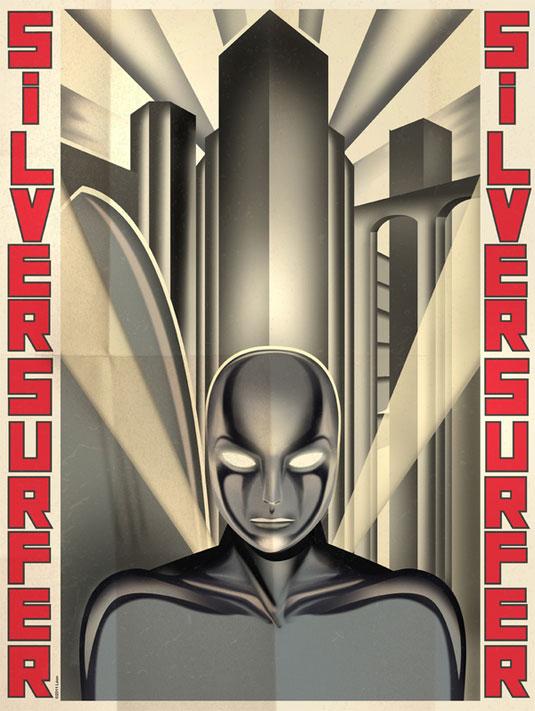 vintage superhero posters