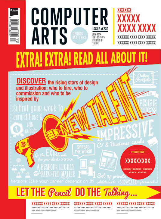 Cover design for CA's New Talent issue by Mark Johnson