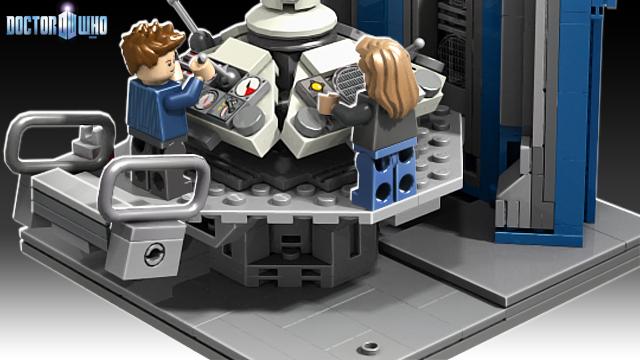 Lego Tardis console