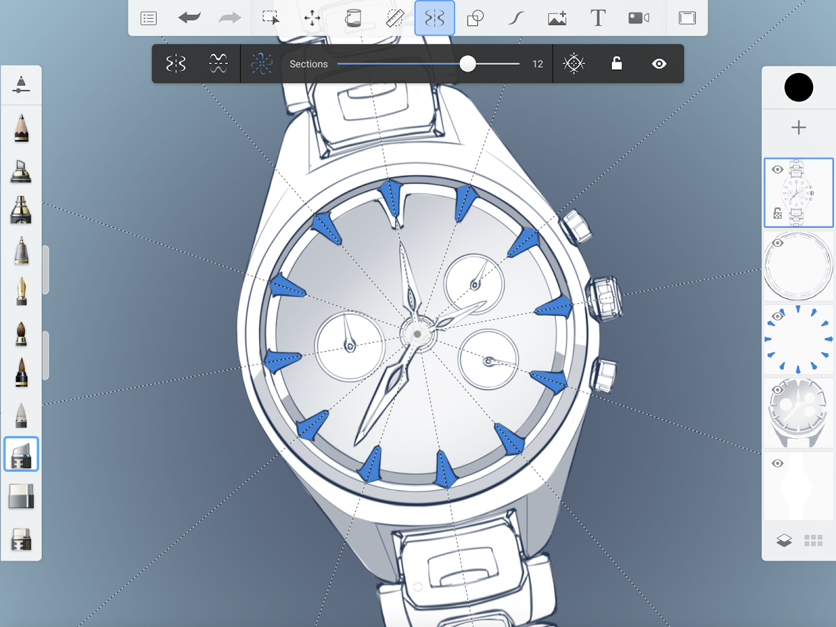 iPad Pro apps: Autodesk Sketchbook