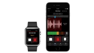 The Apple Watch can be used to control various MetaRecorder functions