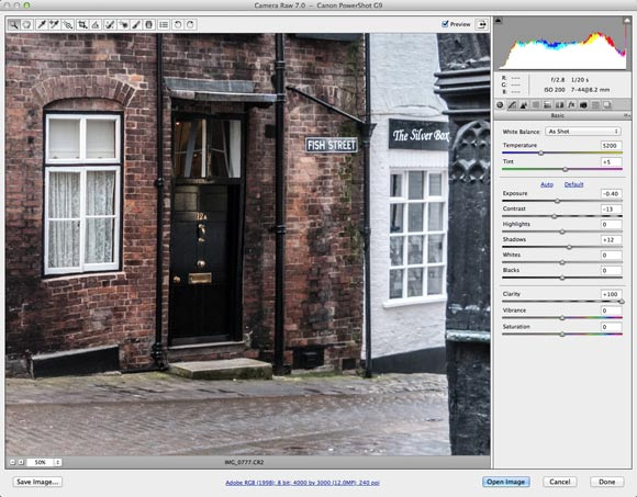 Photoshop CS6: Camera Raw improvements