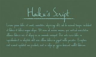 Fuentes escritas a mano libres Haiku s Script