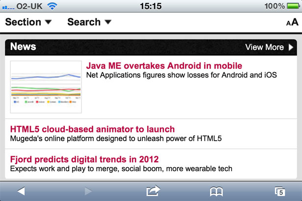 Mobile growth will increase the number of mobile-optimised sites in 2012