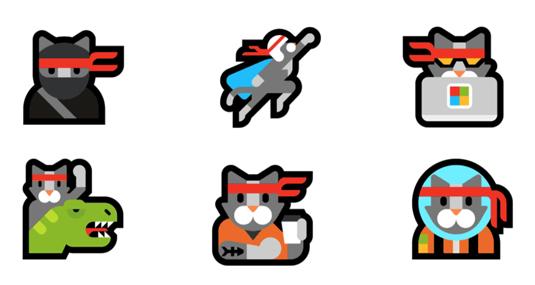 Ninja cat emojis