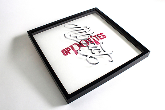 Opposites/attract typography