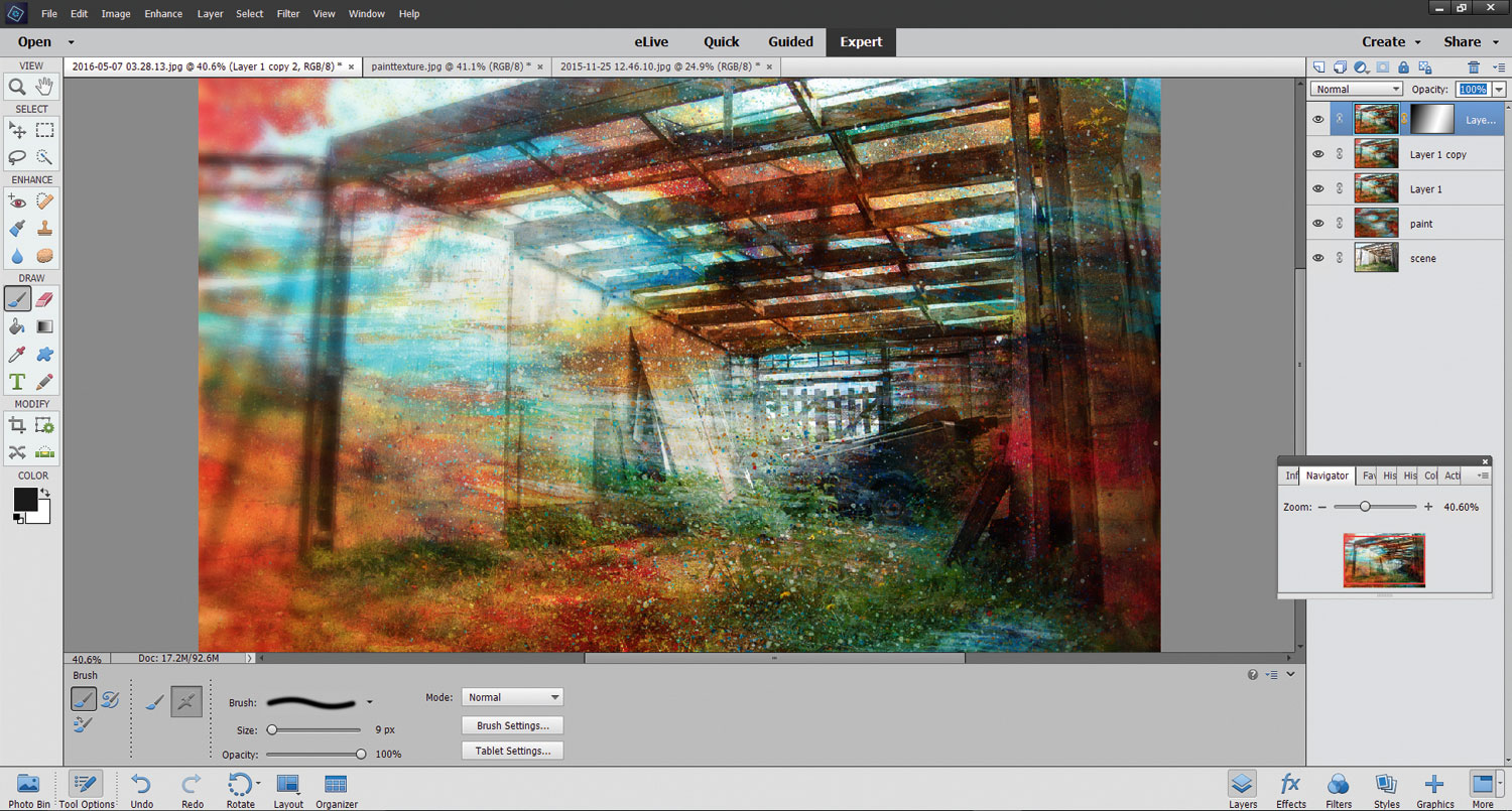 Photoshop Elements photo editing software