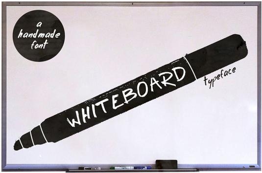 Free font: Whiteboard