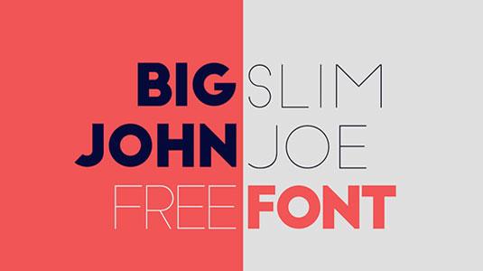 Free fonts: Big John