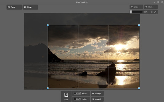 Pixlr Touch Up app