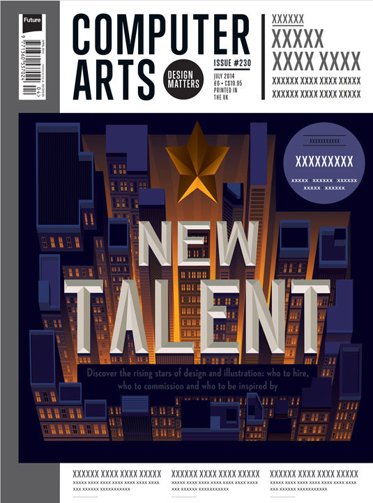Cover design for CA's New Talent issue by Jun Hun Yap