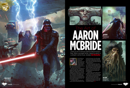 imaginefx issue 129 aaron mcbride star wars
